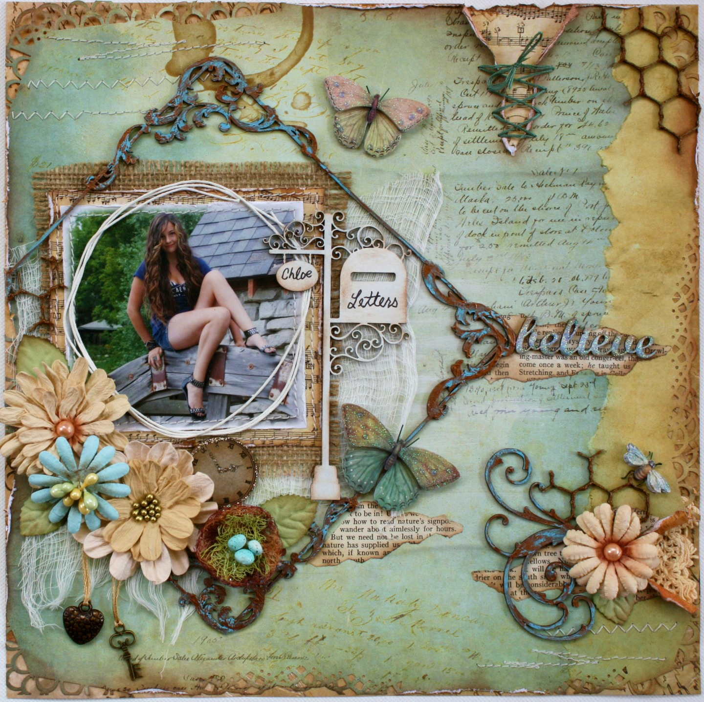 Such A Pretty Mess: Another Layout In Australian Scrapbook