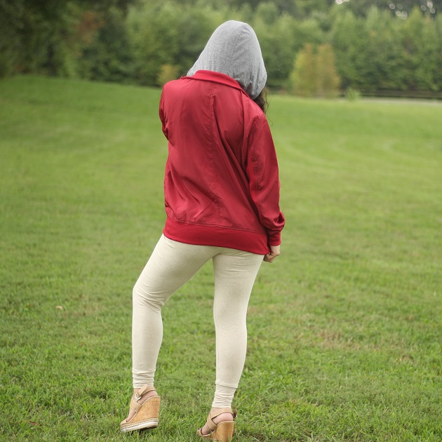 Burgundy Windbreaker