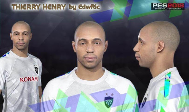 Thierry Henry Face PES 2018