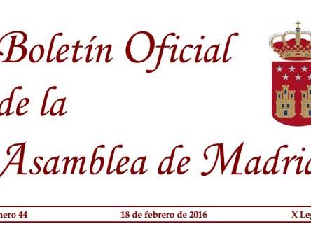 Mi desgranaje a la Resolución Núm. 12/2016 del Pleno de la Asamblea de Madrid