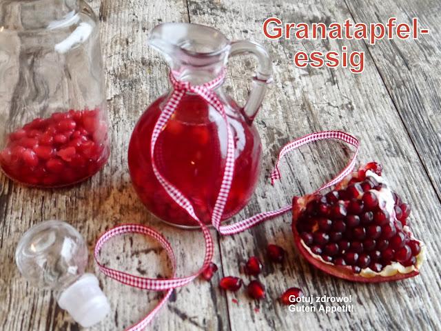 Ocet winny z pestkami granatu-Granatapfel-Essig - Czytaj więcej »