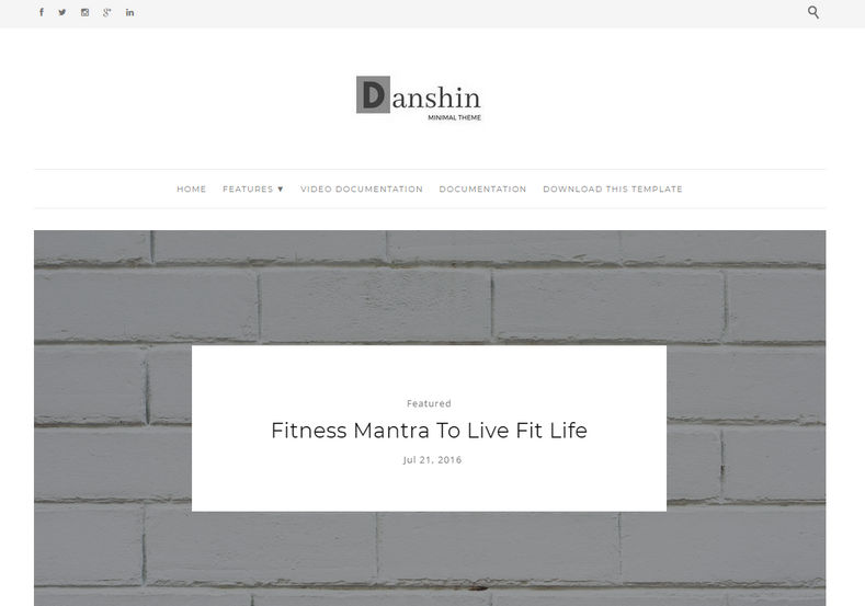 Danshin Blogger Template