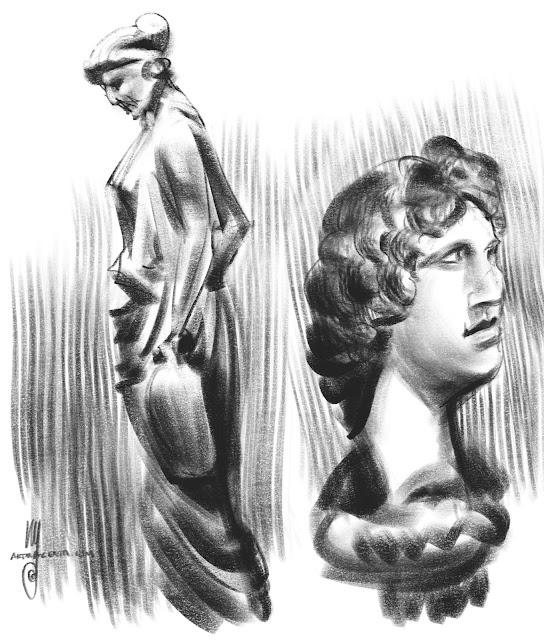 Glyptoteket Copenhagen Sketch by Artmagenta
