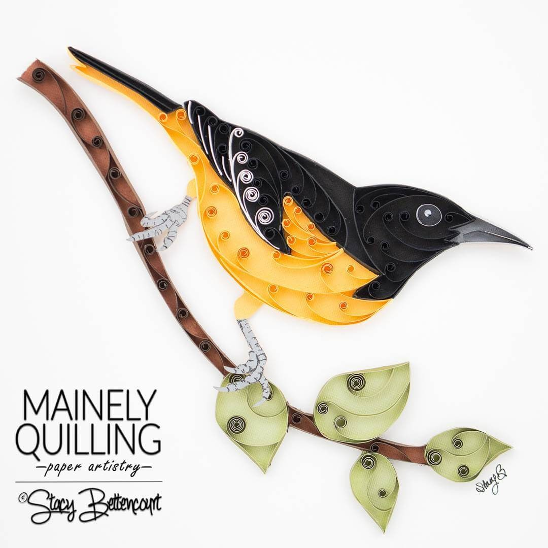 14-Baltimore-Oriole-Stacy-Bettencourt-Quilling-Animals-and-Game-of-Thrones-www-designstack-co
