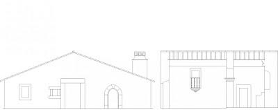 Alçado (Church Elevation) da Igreja de São Miguel, Castelo de Vide, Portugal