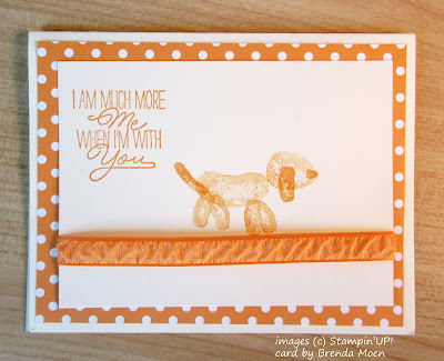 Balloon Animal Card - dog made with images from Stampin'UP!'s Balloon Builder Stamp Set