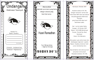 contoh walimatul undangan tasmiyah dan aqiqah word dan cdr