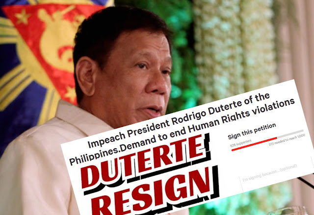 Petition for Duterte impeachent spreads on the internet