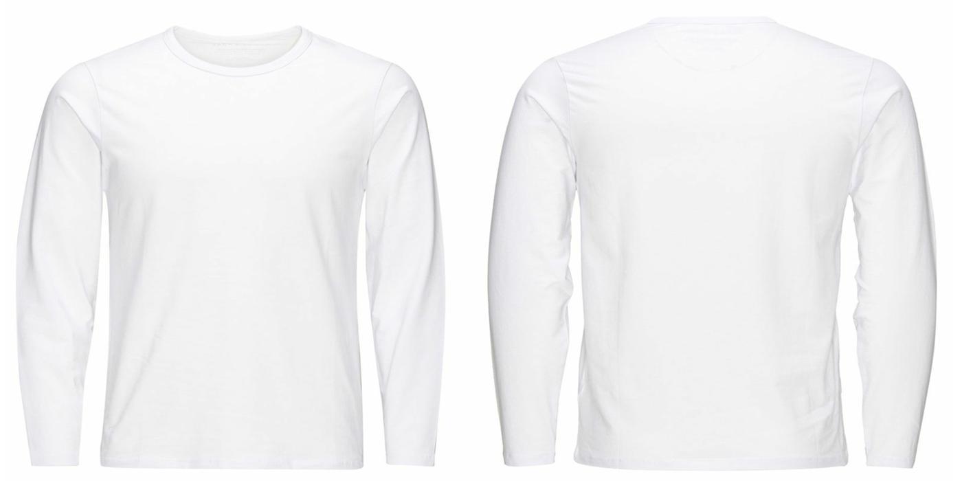 Desain Kaos Polos Hitam Lengan Panjang - Fun Run c