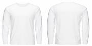 Info Penting 20+ Gambar Baju Polos Putih Lengan Panjang Depan Belakang