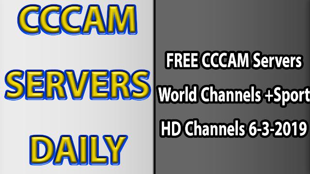 FREE CCCAM Servers World Channels +Sport HD Channels 6-3-2019