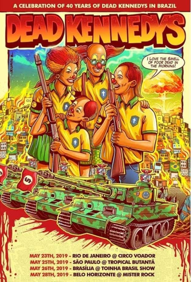 El Cuartel del Metal | Noticias sobre Heavy Metal y Rock, conciertos, reseñas y más: Dead Kennedys cancela show en Brasil luego de polémica por posters