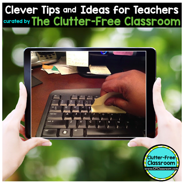 Are you wondering how to clean the computer keyboard in your classroom? This teacher tip will be helpful to teachers wanting to get the dirt out of the classroom keyboards.
