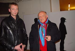 Klaus Guingand and Bertrand Lavier - 2005 - Paris - France.  Guingand studio