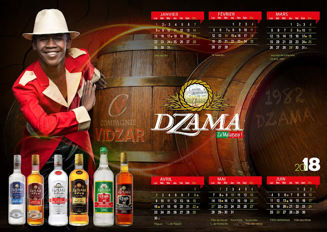 calendrier plateau rhums dzama 2018 mois de janvier à juin