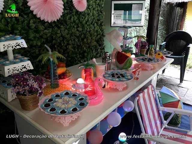 Decoração de aniversário infantil Festa na Piscina - Pool Party