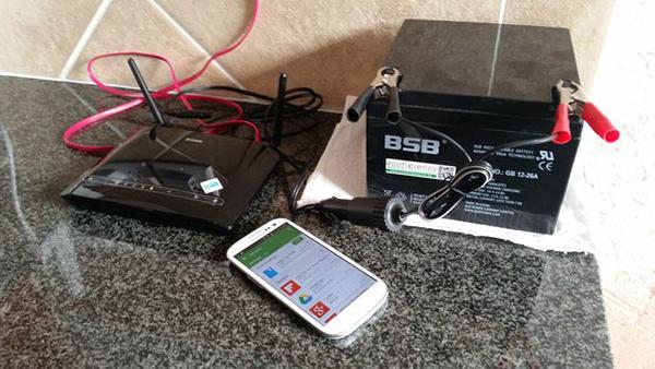 كيفية تشغيل الراوتر بدون تيار كهربائي لمدة 8 ساعات !