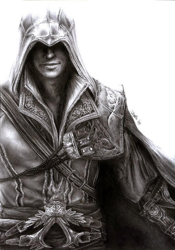 13-Assassins-Creed-Ezio-Daisy-van-den-Berg-How-To-Draw-a-Realistic-www-designstack-co