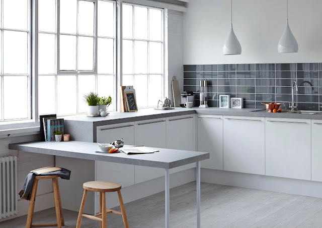 organised kitchen in grey
