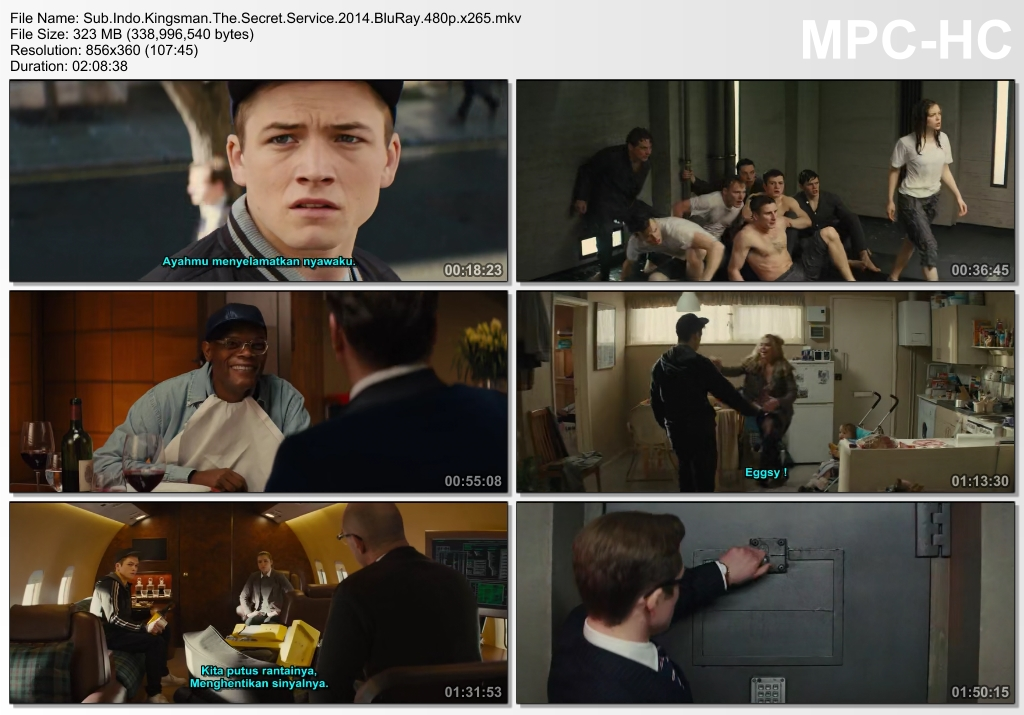 Screenshots Download Film Gratis Kingsman: The Secret Service (2014) BluRay 480p MP4 Subtitle Indonesia 3GP Nonton Film Gratis Free Full Movie Streaming
