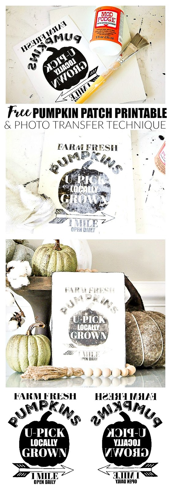 pumpkin patch printable, free printable, image transfer to wood