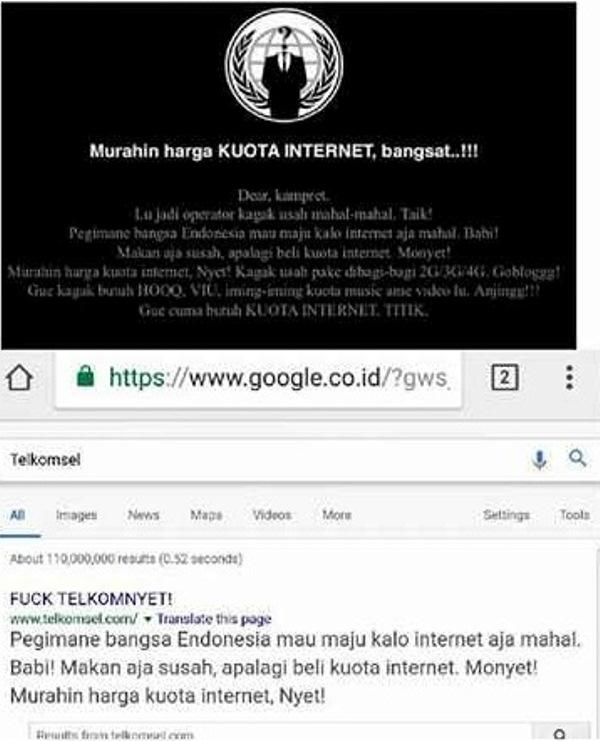 Duh Situs Telkomsel Di Hack Jadi F Ck Telkomnyet Eh Hacker Nya
