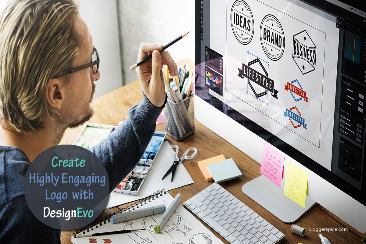 Create a Highly Engaging Logo for Your Blog with DesignEvo