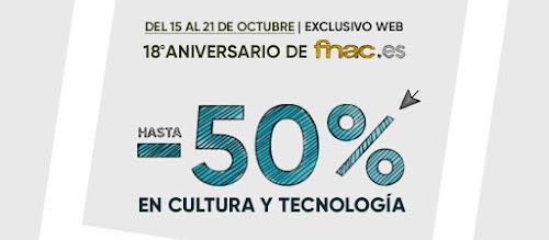 Mejores ofertas promoción 18º Aniversario de Fnac.es