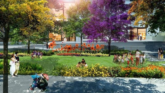 Vườn hoa trẻ thơ tại dự án The Emerald