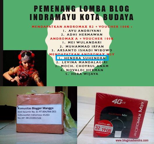 Juara 6 Lomba Blog Kota Indramayu - Blog Mas Hendra