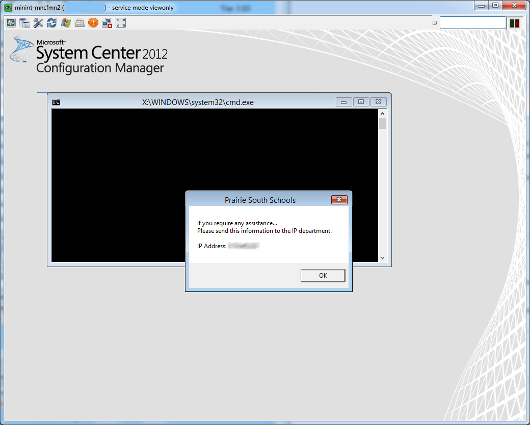 Glen Munro Network Admin: SCCM Boot Image with UltraVNC remote access