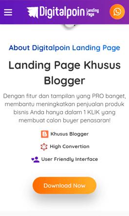 blogger landing page