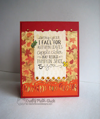 Autumn Leaves Fall-ing for you card by Crafty Math Chick | Fall-ing for You stamp set by Newton's Nook Designs