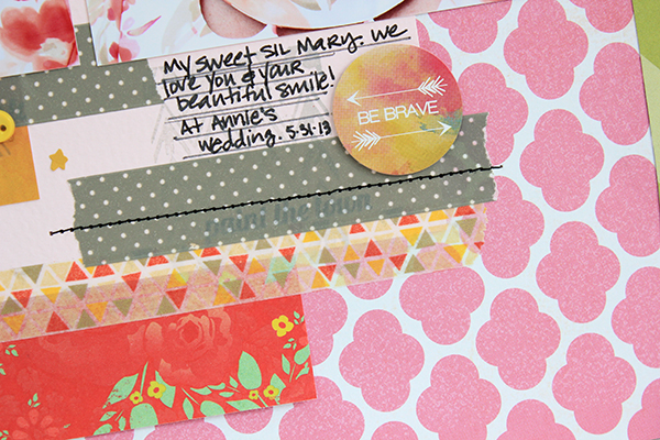 Be Yourself Layout by Juliana Michaels detail