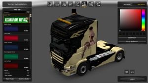 Scania RJL Black Lady Skin