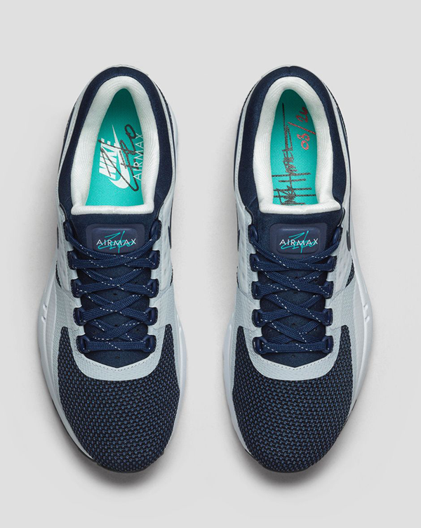 4acb67ce35 Nike Air Max Zero QS. White, Midnight Navy, Reflective Blue, Hyper Jade.  789695-104. What is zero? Mathematically, it's nothing; a number created to  ...