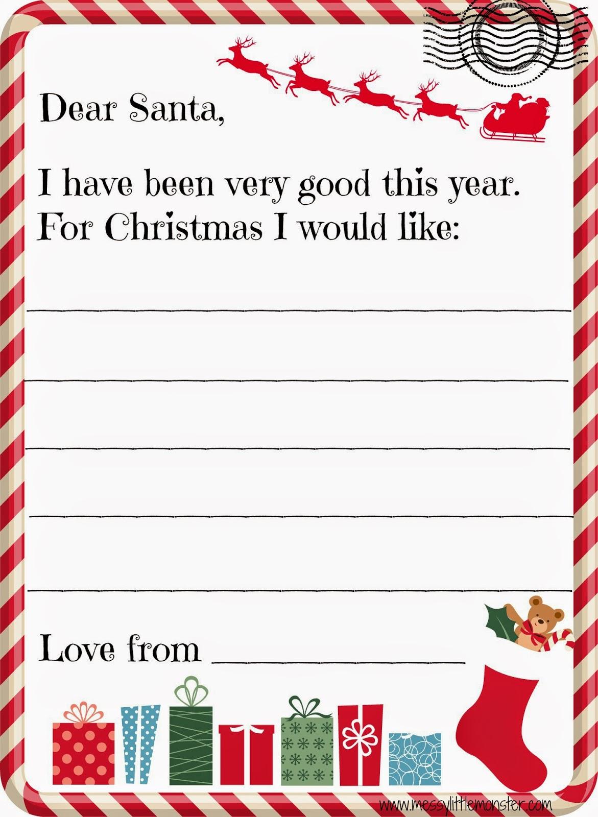 Printable Santa Letter For Kids