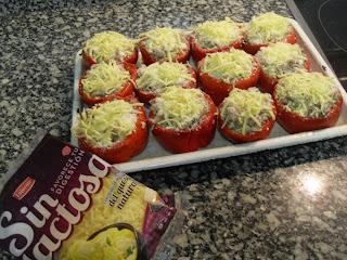 Recetas de pimientos rellenos de carne y verdura (Sin Lactosa).