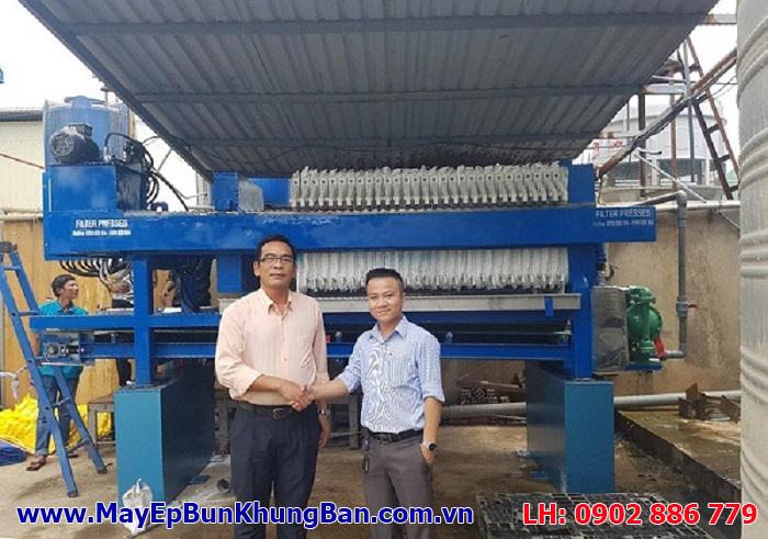 Đã hoàn thiện và bàn giao sử dụng máy ép bùn khung bản Việt Nam cho khách hàng Phúc Toàn Thịnh - Long An