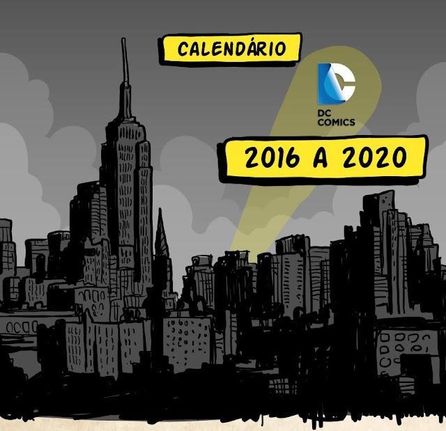 Lançamentos da DC Comics de 2016 até 2020