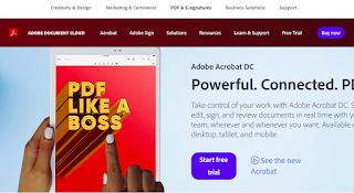 برنامج Adobr Acrobat DC لتصغير حجم ملفات البى دى إف PDF