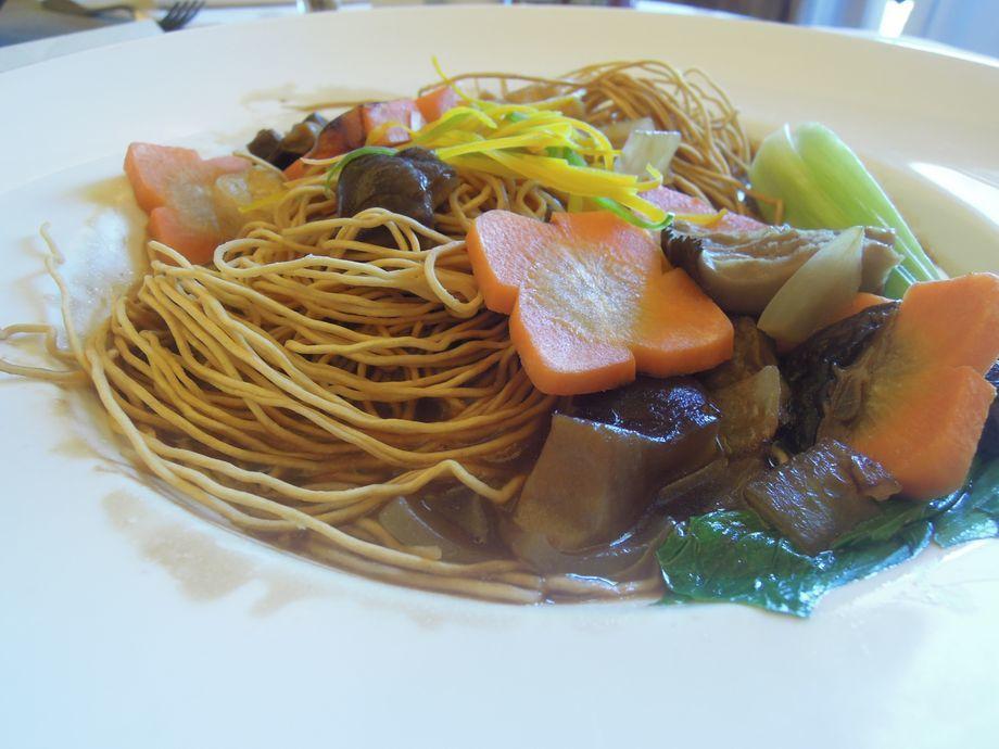 Crunchy noodles at Shangri-La's Mactan Resort and Spa
