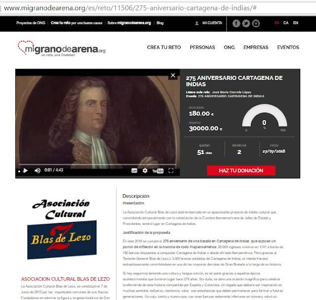 275 aniversario Cartagena de Indias - Asociación Cultural Blas de Lezo en migranodearena.org - Blas de Lezo - Cumbre Iberoamericana - el troblogdita - ÁlvaroGP