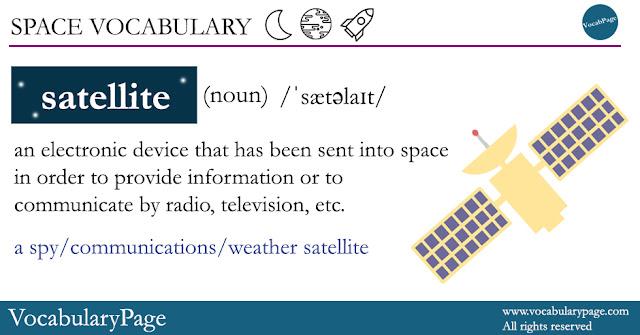 Space Vocabulary - Satellite