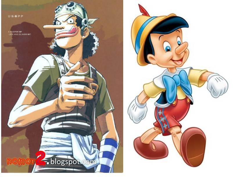 check it out  kemiripan tokoh one piece kartun dan