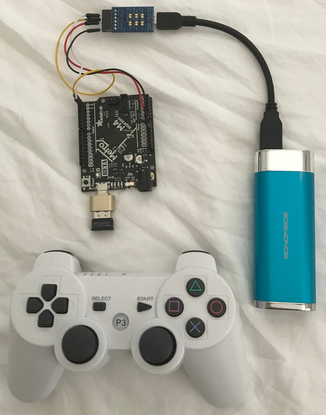 Adafruit M4 (SAMD51) and Playstation 3 Controller over Bluetooth