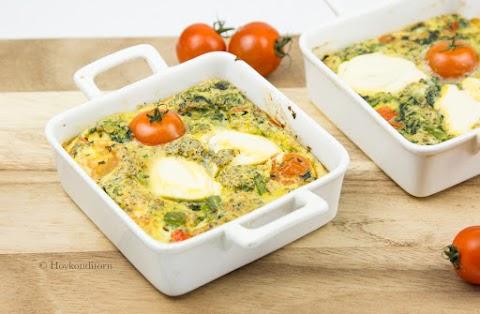 Oven-Baked Ricotta-Tomato-Spinach Omelette