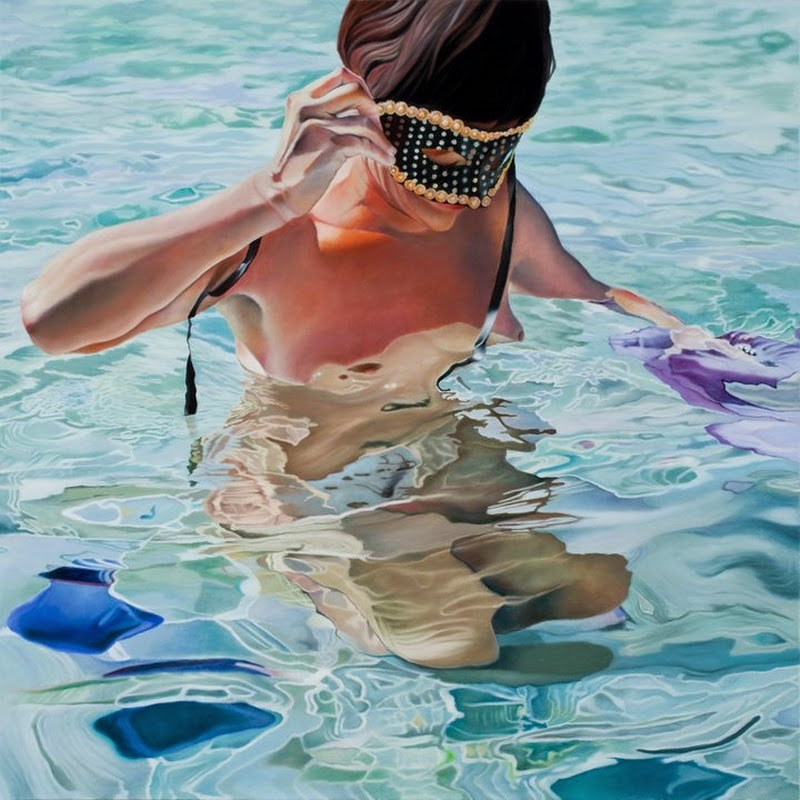 D.W.C. Woman and Sea - Painter Josep Moncada
