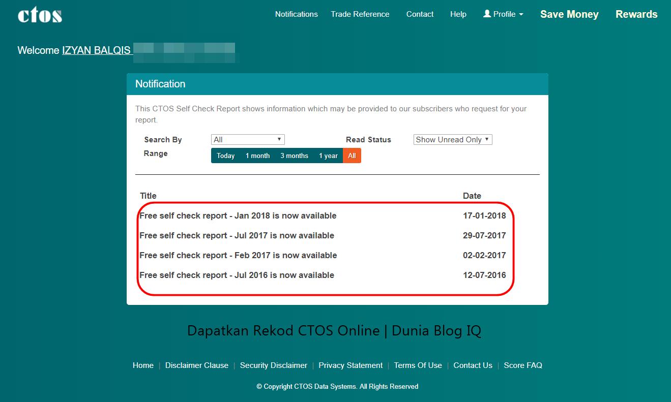 Cara Mudah Dapatkan Report CTOS Online Dan Fakta Asas Mengenainya