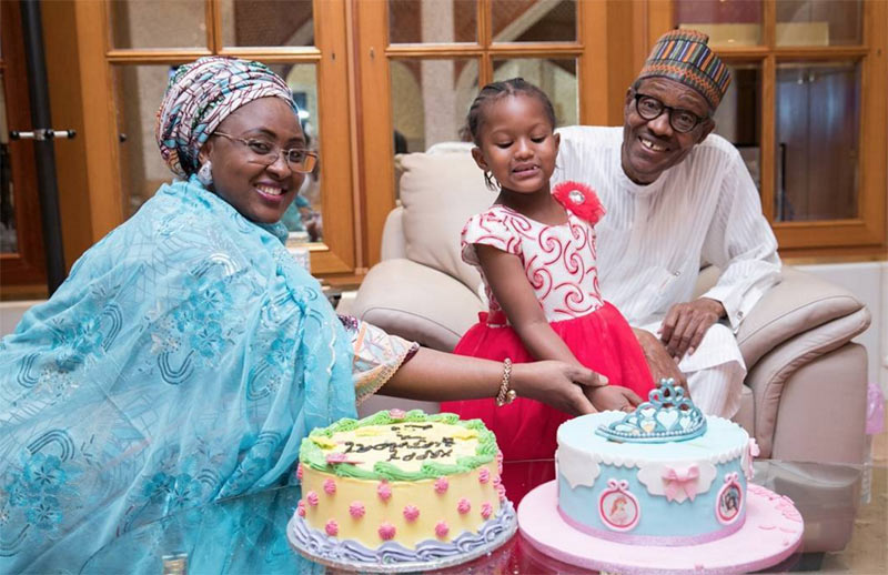First lady and President Buhari reconcile as their granddaughter marks birthday